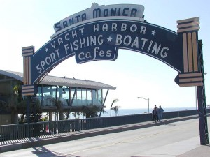 The famous Santa Monica pier is 2 blocks west of the Fairmont Miramar Hotel